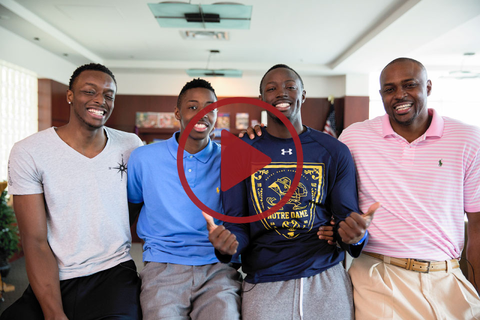 Players and their Fathers sharing stories on EverydayDad -