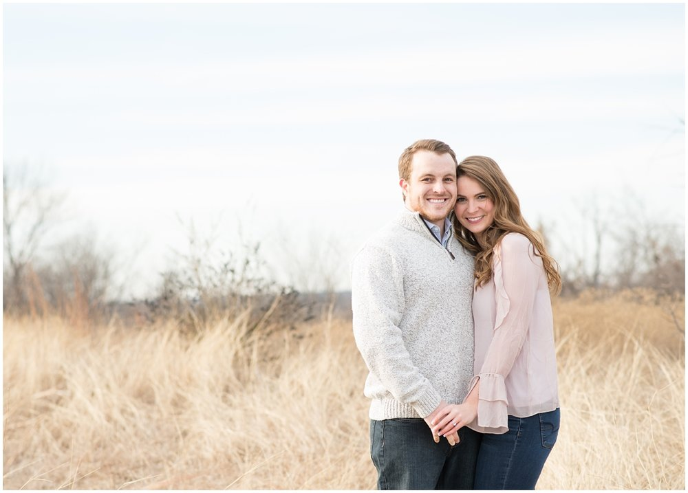 Bright and classic Fort Worth Texas Open Field Engagement Session