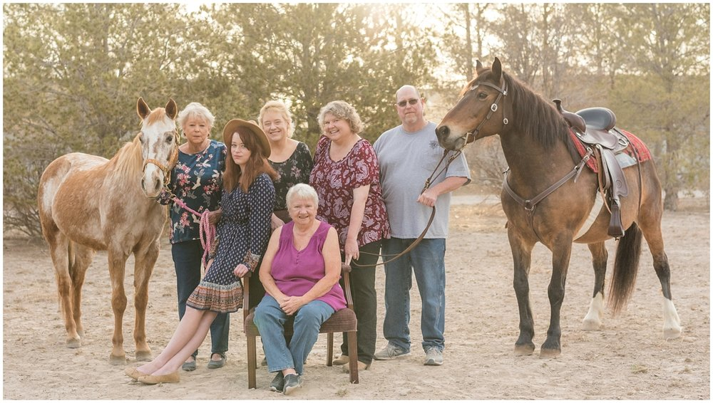 Midland Texas Family Equine Portrait Photography