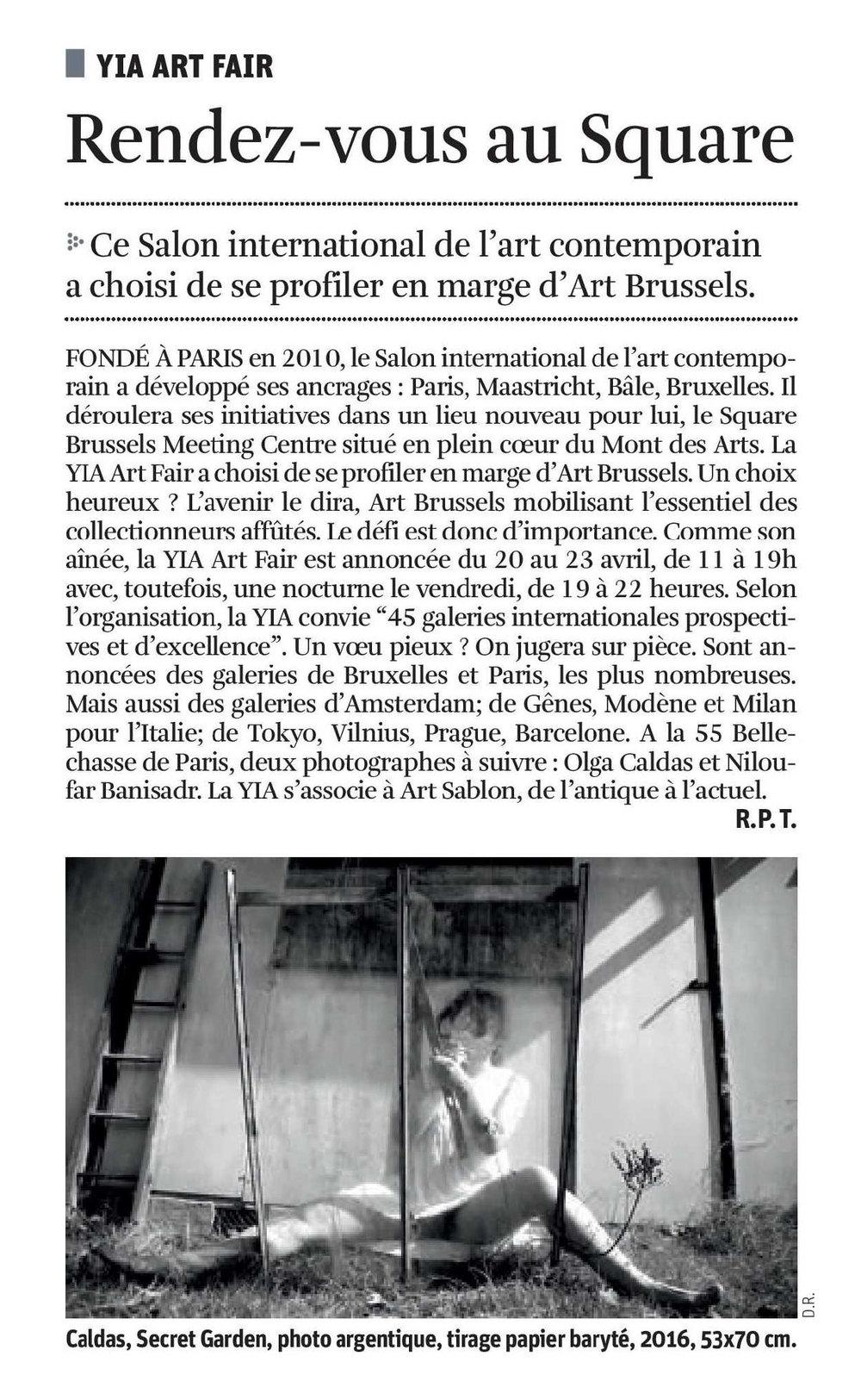 LA LIBRE 12 APRIL 2017