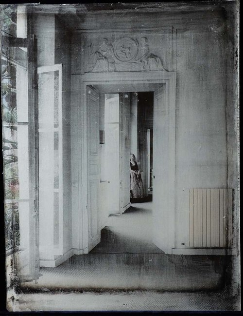 Leaving+the+garden,+Photographic+emulsion,+paint+and+collage+on+glass,+37,5x29,5cm,+2017.JPG