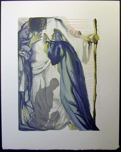 "A Spirit Questions Dante - 13"" x 10 1/3"" - $2,500.00    FAB price $1,199.00"