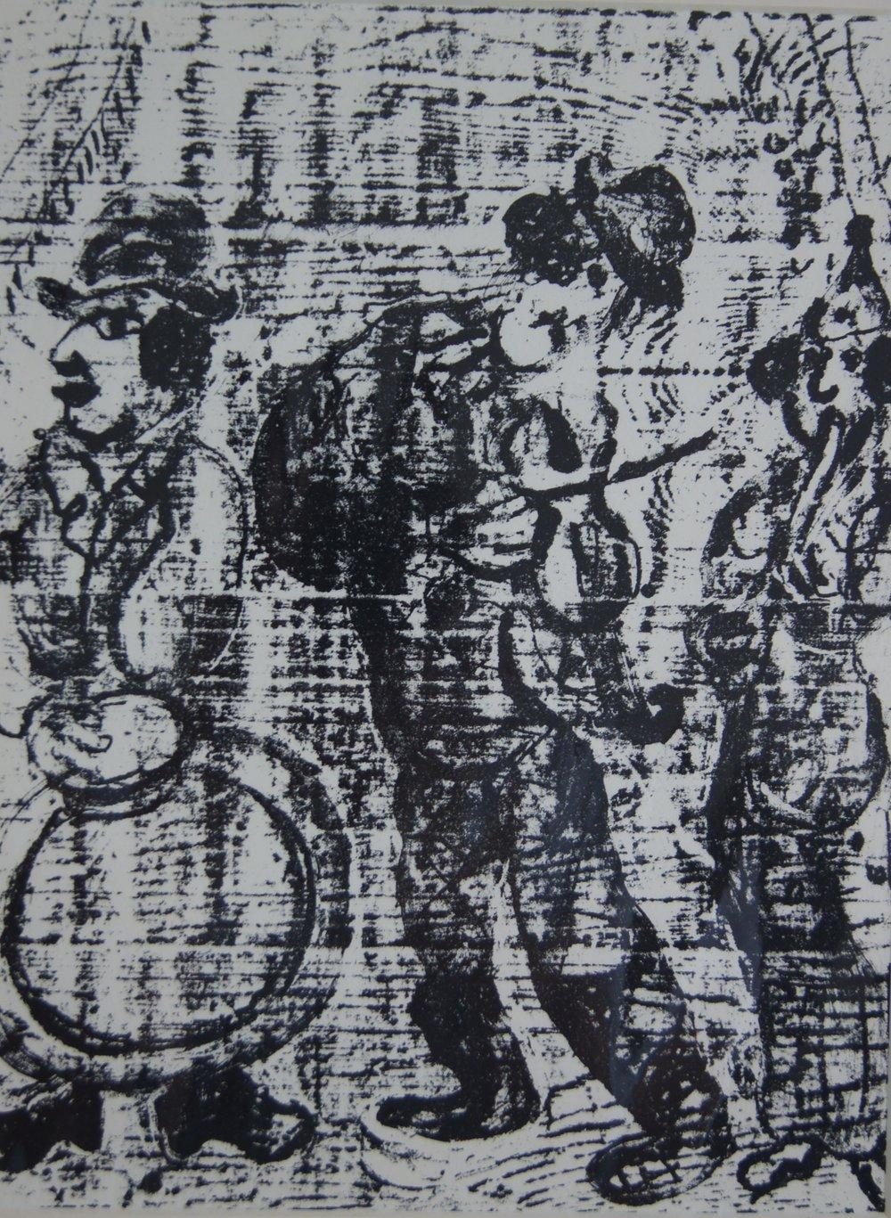 WANDERING MUSICIANS - 32 x 24 cm - $1,990.00    FAB price $595.00