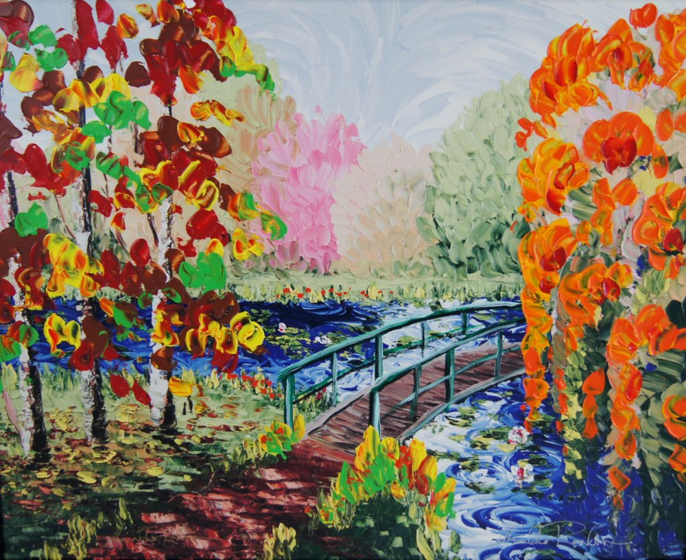 FALL AT GIVERNY - 24 x 30 - $3,950.00    FAB price $1,975.00