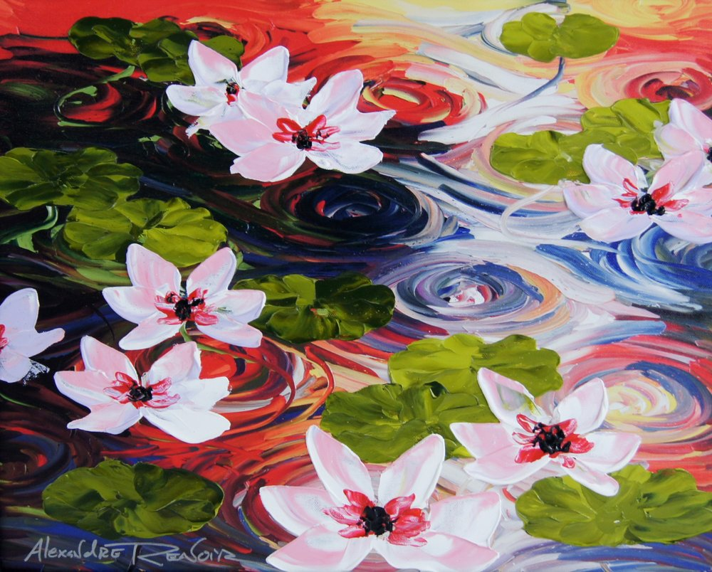 LILLIES AT DUSK - 16 x 20 - $2,950.00    FAB price $1,475.00