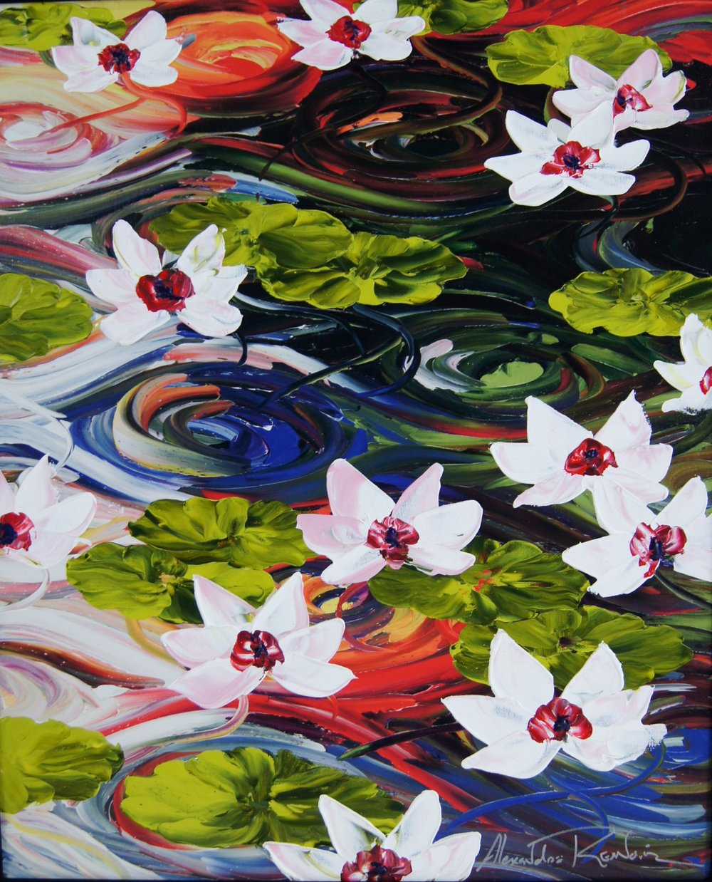 LILLIES IN THE LIGHT - 20 x 24 - $3,450.00    FAB price $1,725.00