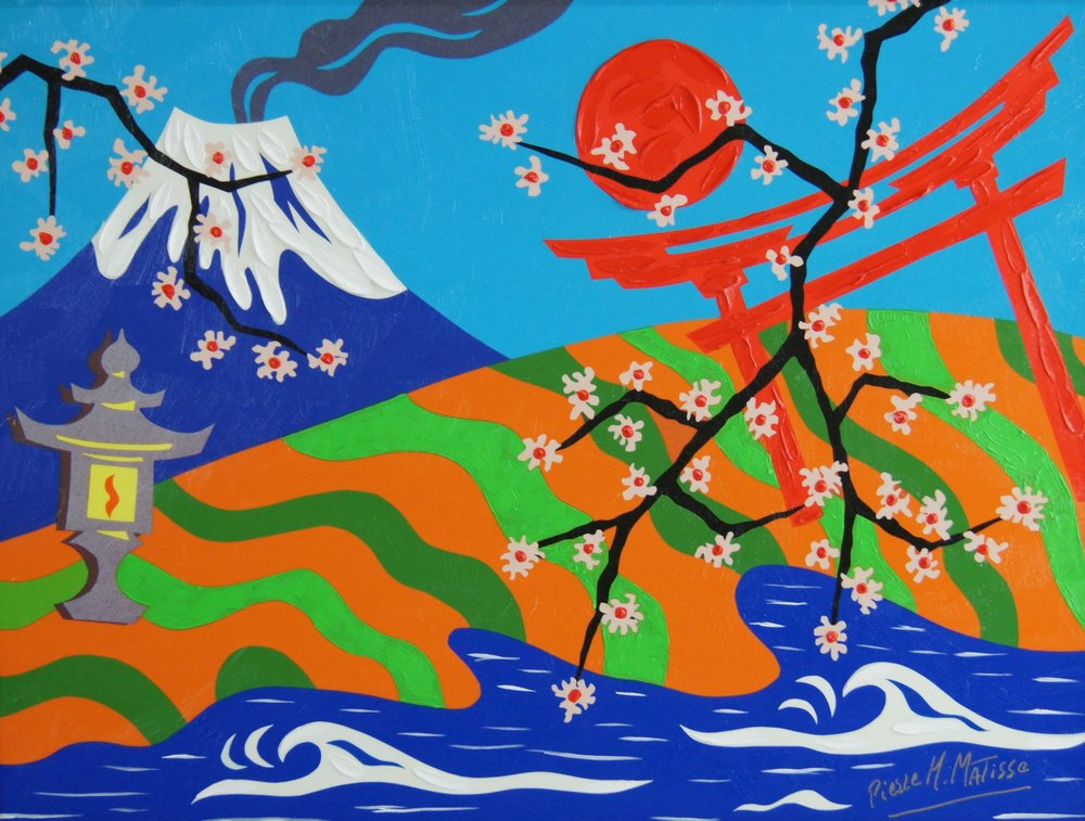 Oh Japan, Land Of Beauty - 20 x 24 - $6,950.00    FAB price $695.00