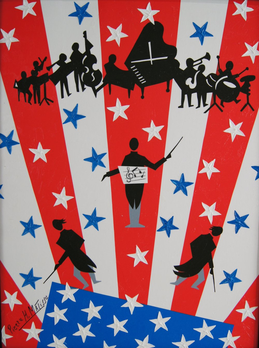 Stars and Stripes Forever - 18 x 24 - $6,950.00    FAB price $695.00