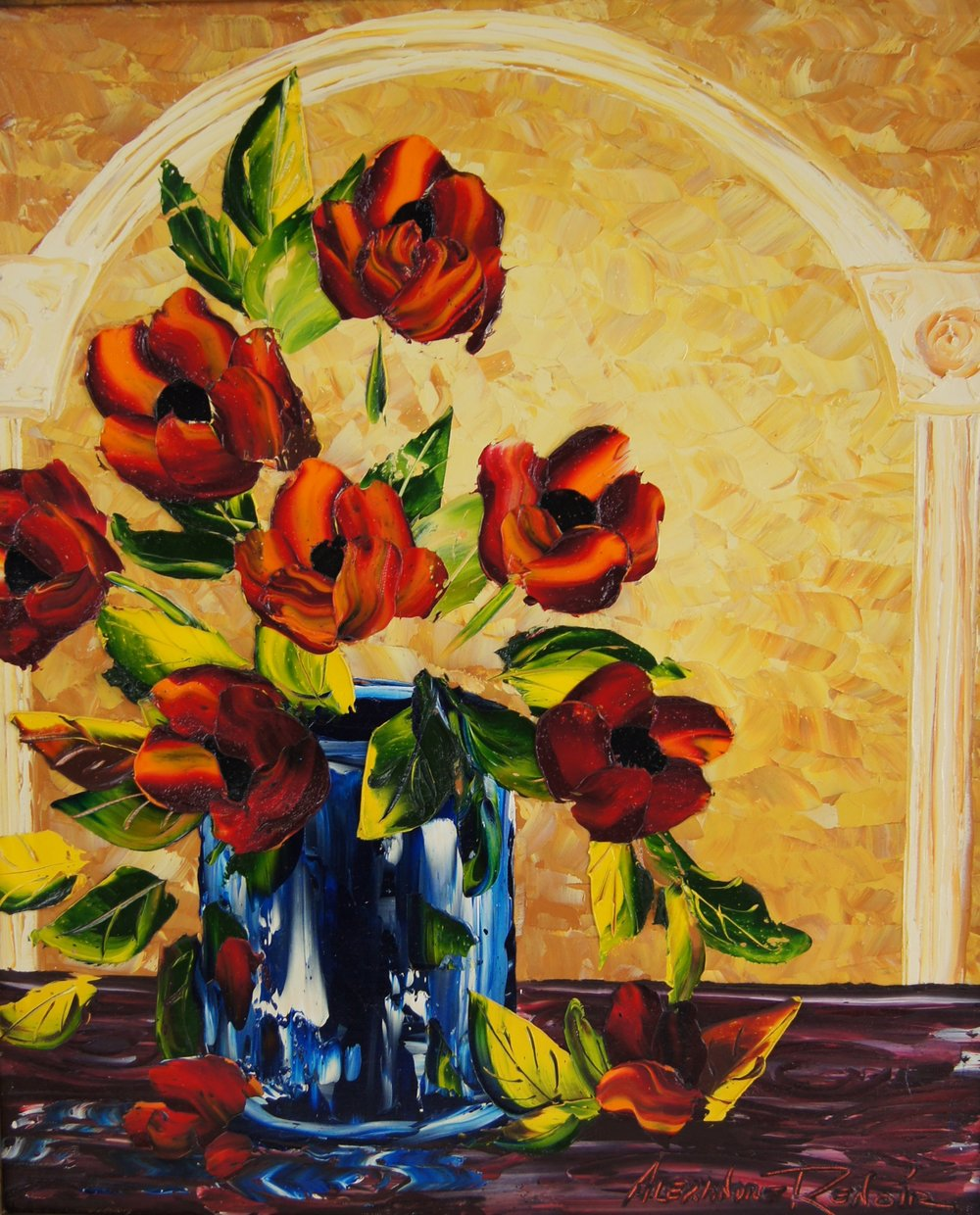 THE RED BOUQUET - 20 x 24 - $8,990.00    FAB price $4,950.00