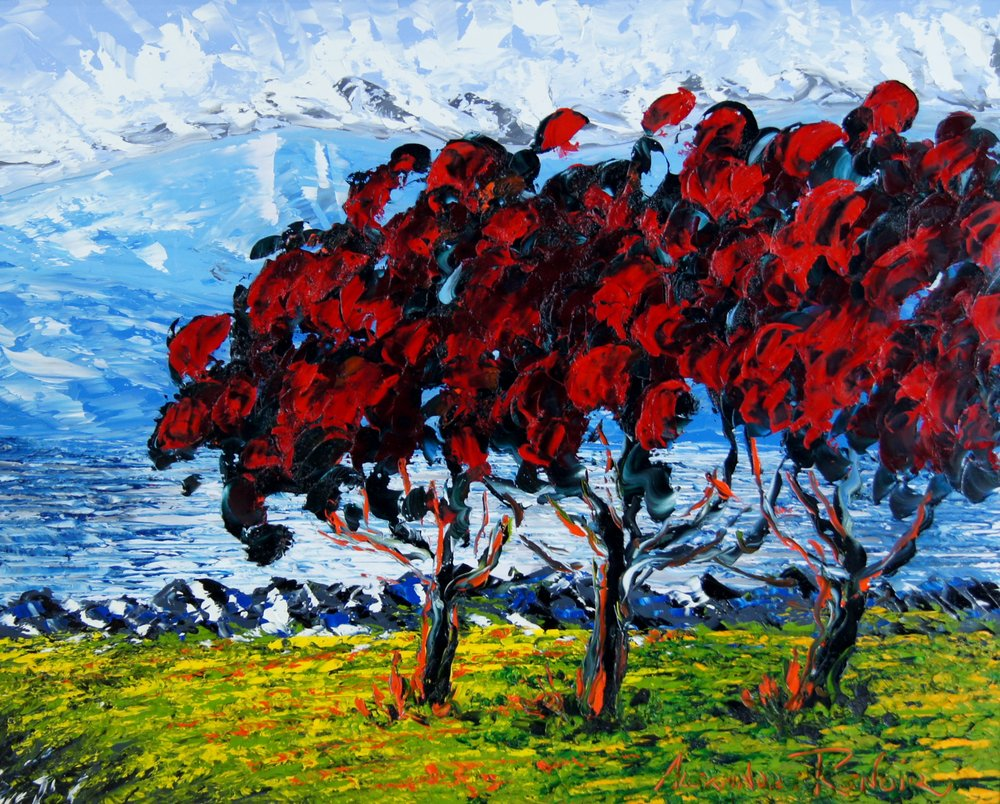 RED TREES - 24 x 30 - $12,500.00    FAB price $6,25.00