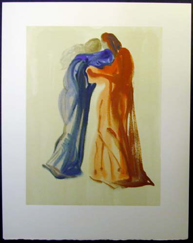 "Dante and Beatrice - 13"" x 10 1/3"" - $2,500.00    FAB price $1,199.00"