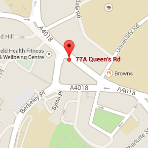 Map for 77a Queens Road