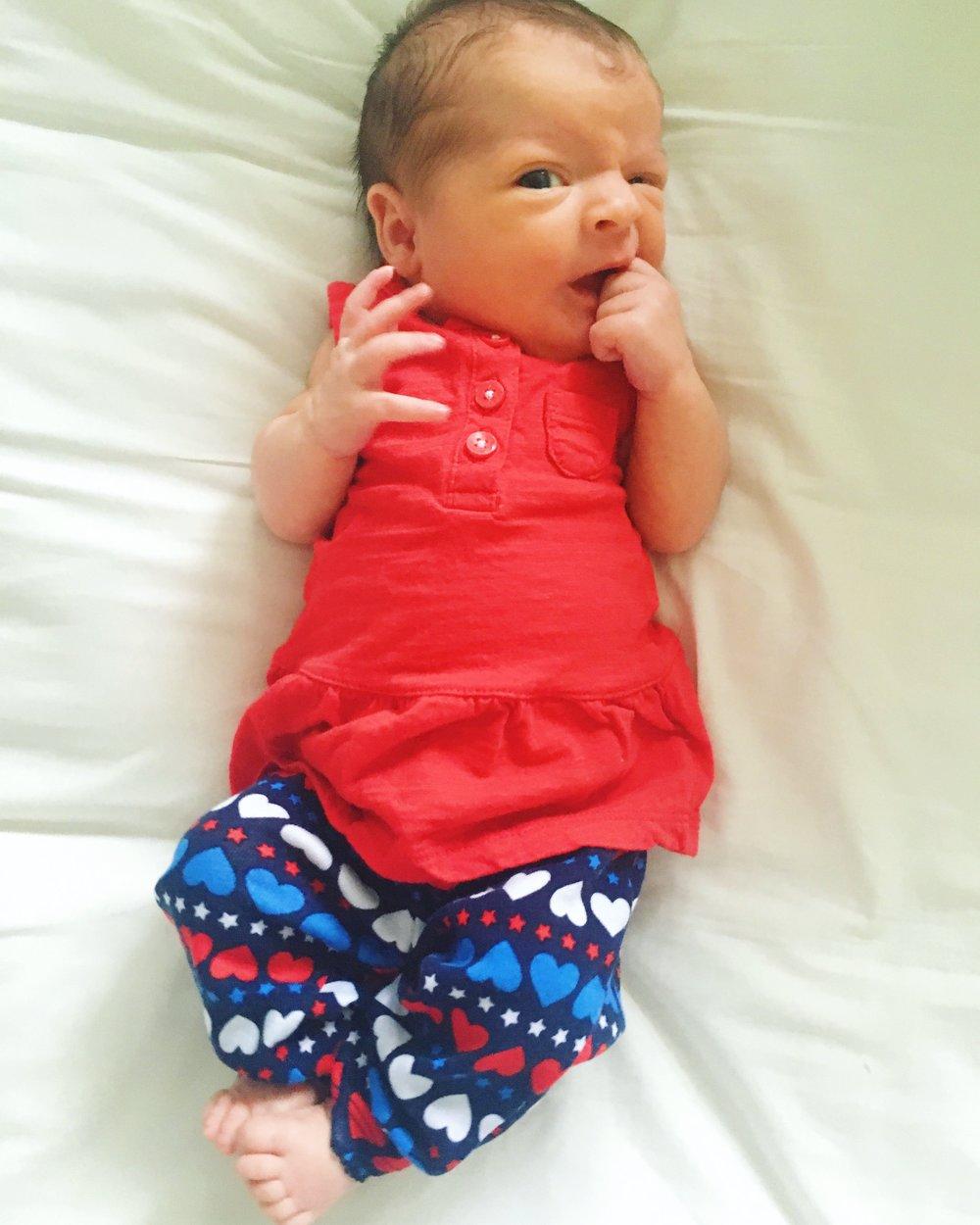 My daughter Ellie, at three days old.