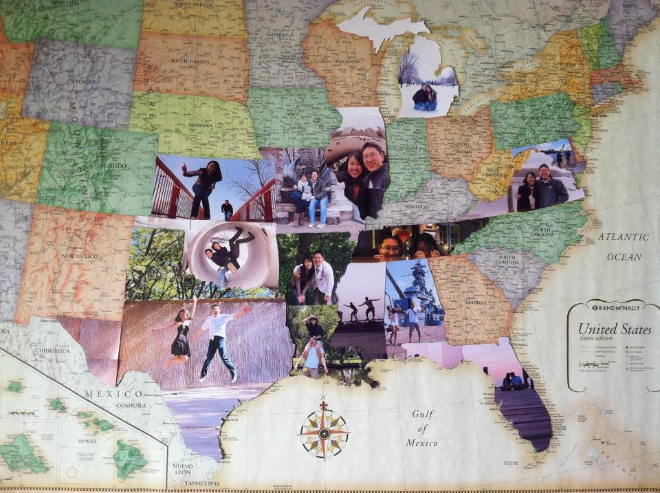 A picture map found on Pinterest. I will have one someday!