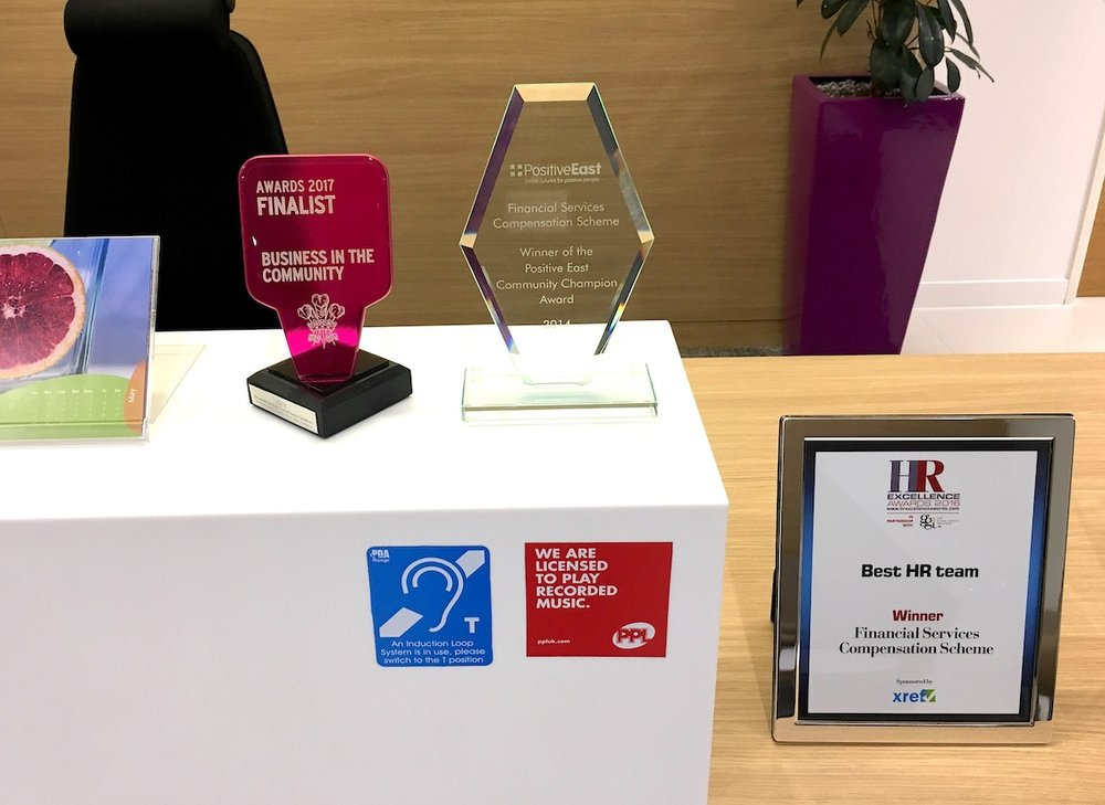 A selection of FSCS's employer awards