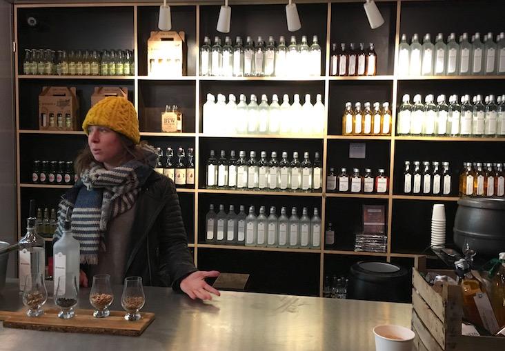 Craft gin distillery experience