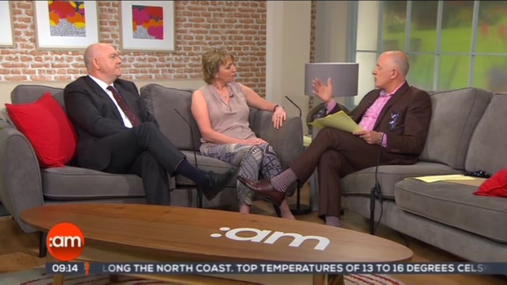 Eileen appearing on  Ireland AM   with Dr Paul Murphy & Mark Cagney.