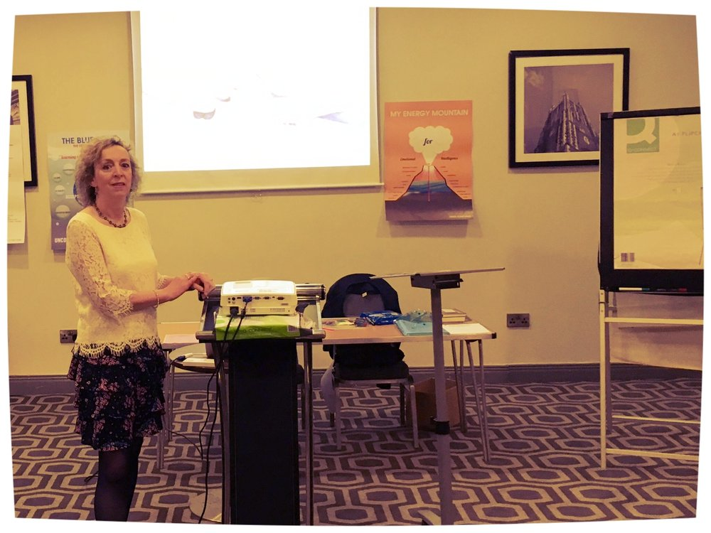Eileen presenting at a Self Management Workshop in Cork for Chronic Pain Ireland
