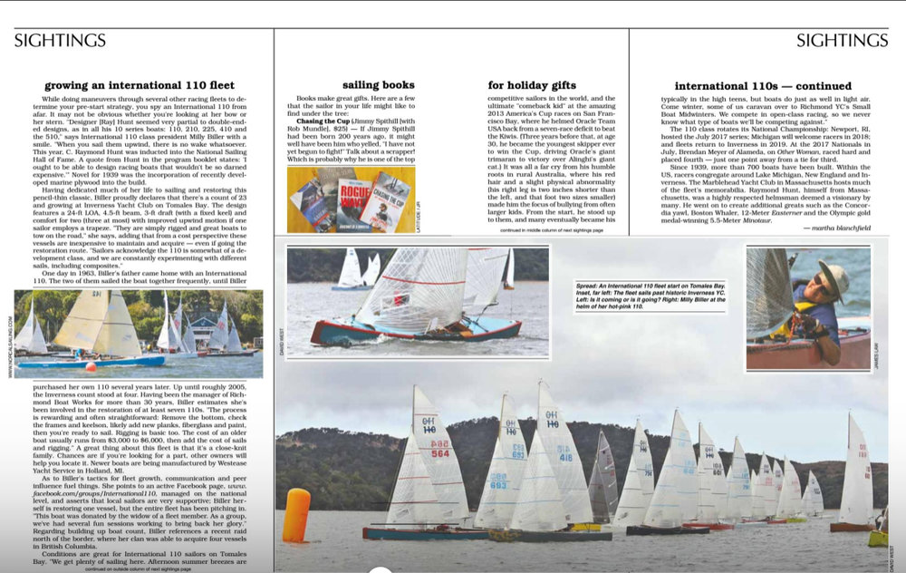 Latitude 38  December issue, pages 50 - 51.