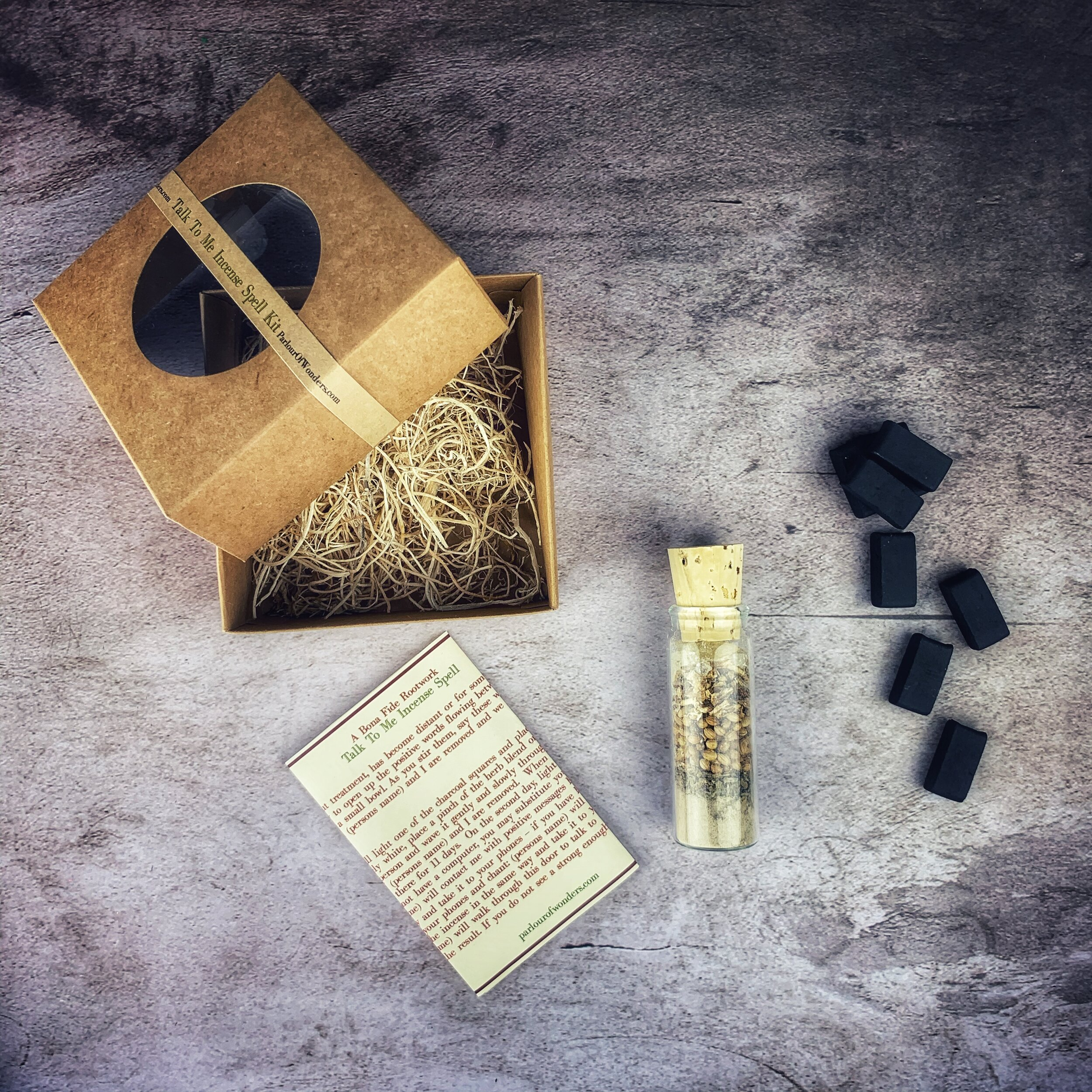 Talk to Me Incense Spell Kit — Madame Pamita's Parlour of Wonders