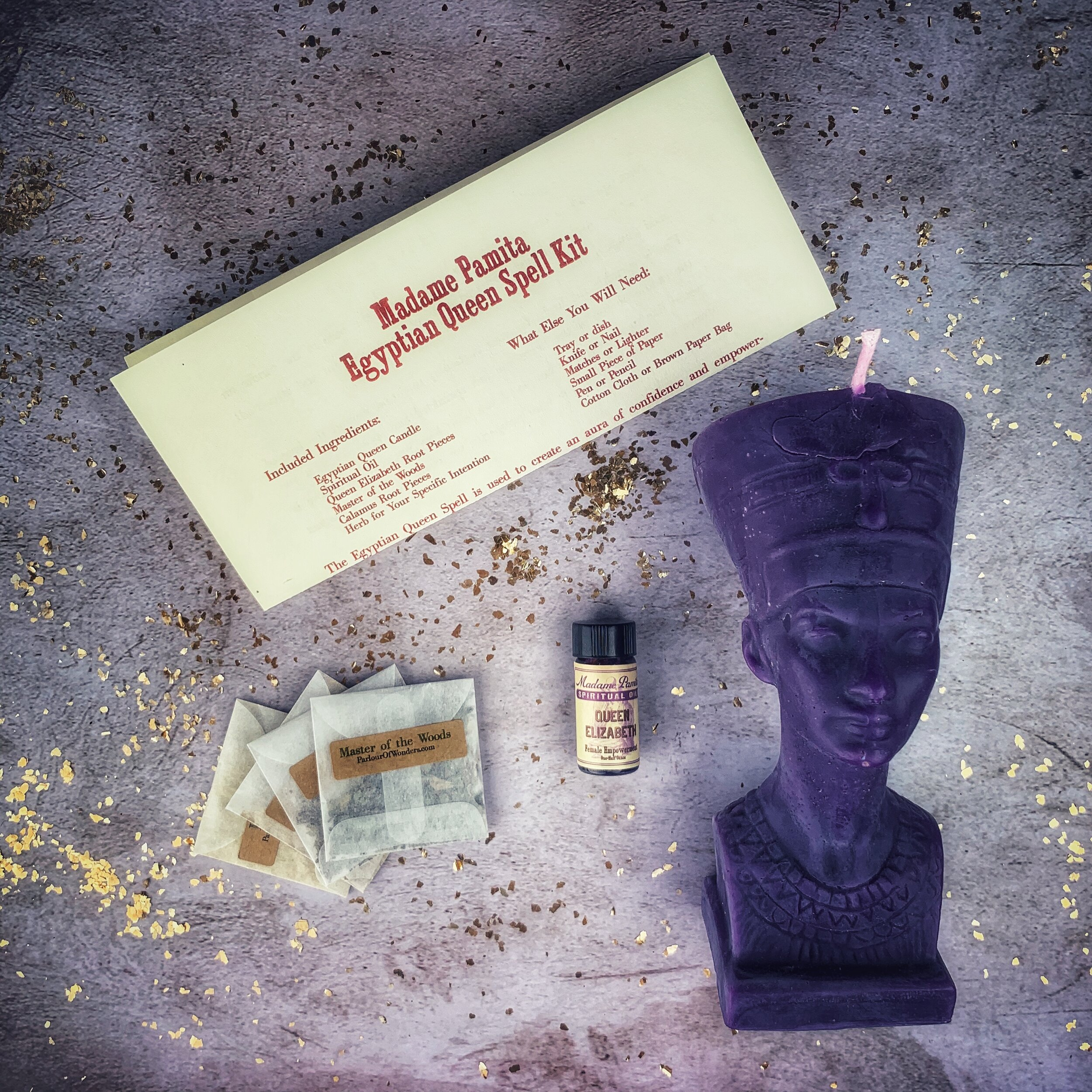 Egyptian Queen Spell Kit — Madame Pamita's Parlour of Wonders