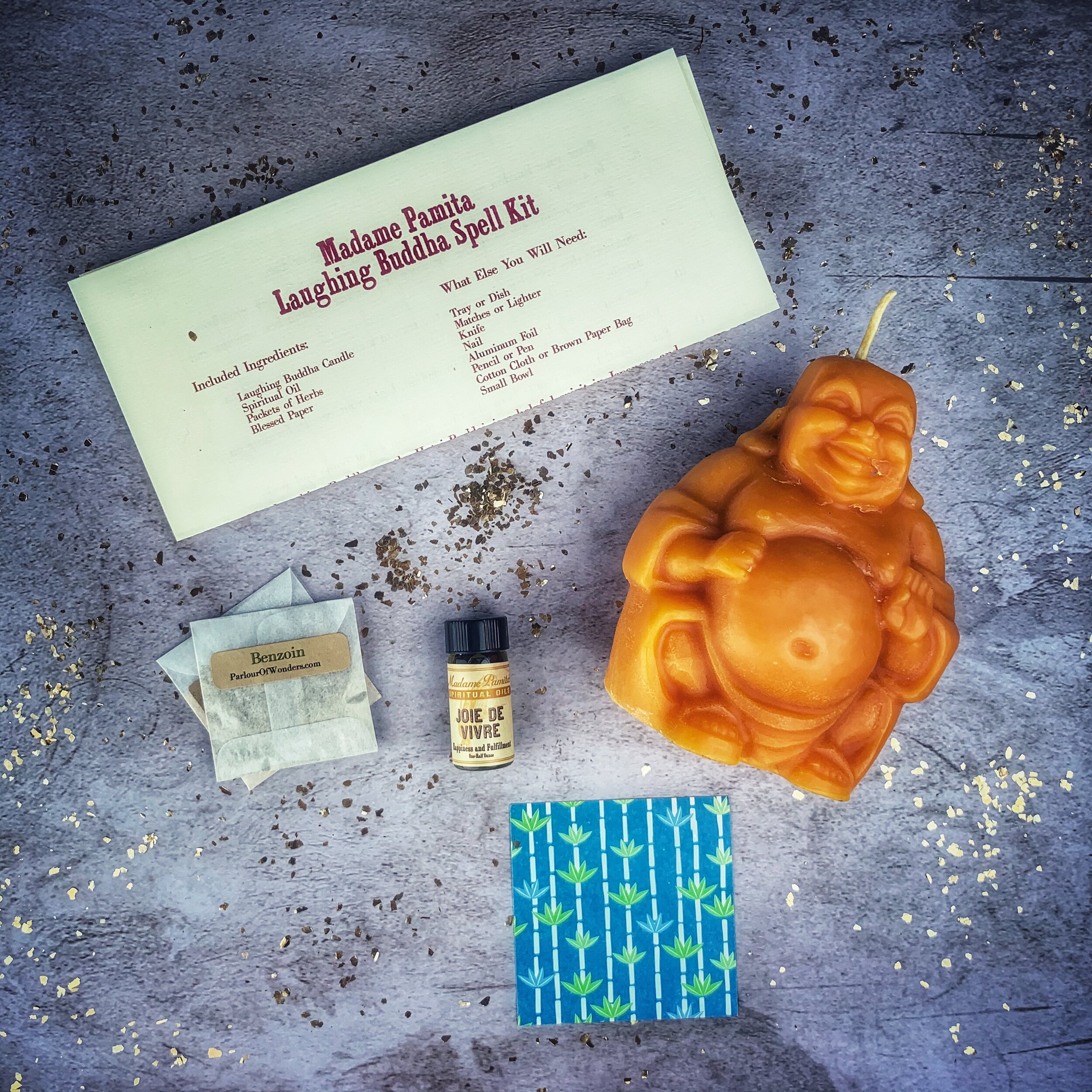 Laughing Buddha Abundance Spell Kit — Madame Pamita's Parlour of Wonders