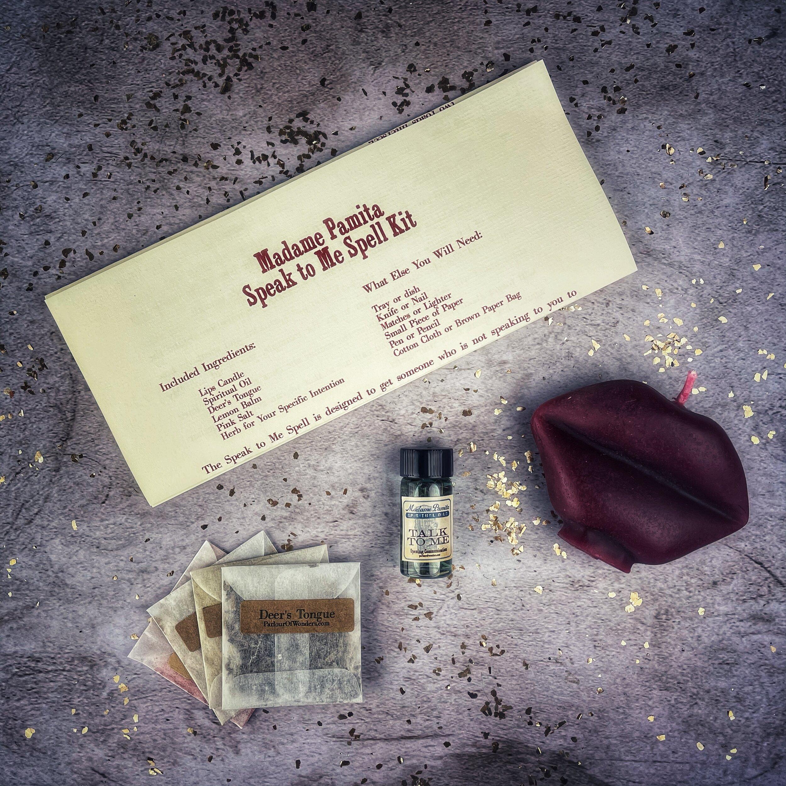 Speak to Me Spell Kit — Madame Pamita's Parlour of Wonders