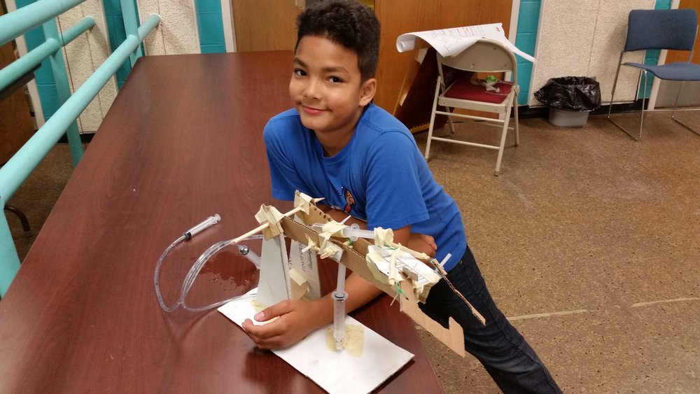 - Columbia Heights Rec Department student Jacoby and the Hydraulic Arm he built in a 3 day Spark-Y program