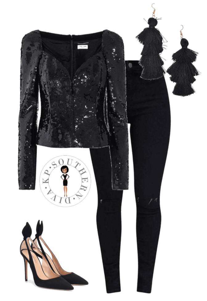 holiday outfit inspiration embellished