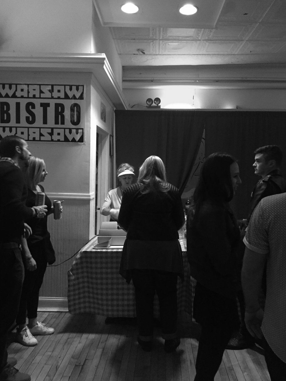 Patrons line up to get a taste of the Polish fare served up at the Bistro inside Warsaw.