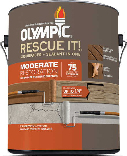 RESCUE IT!® Moderate Resurfacer + Sealant in One