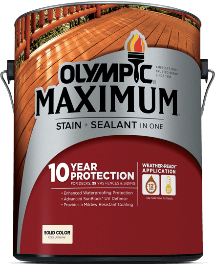MAXIMUM® Stain + Sealant in One Solid Color