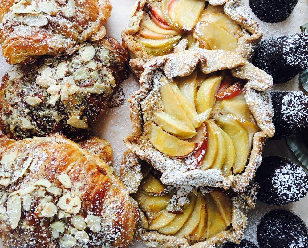 Almond Croissant, Rustic Apple Almond Tart