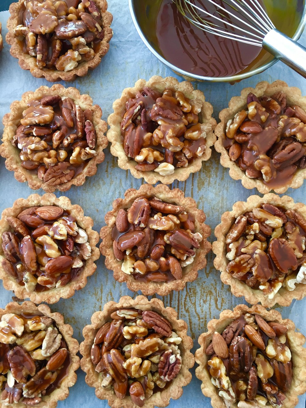 Salted Caramel Nutty Tart