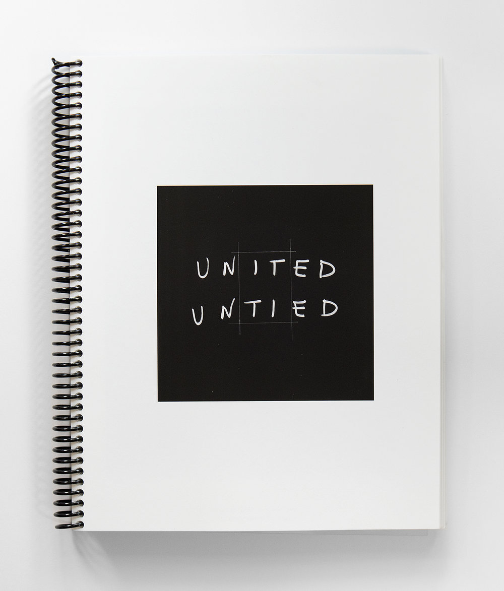 United Untied Research Notebook detail- the cover