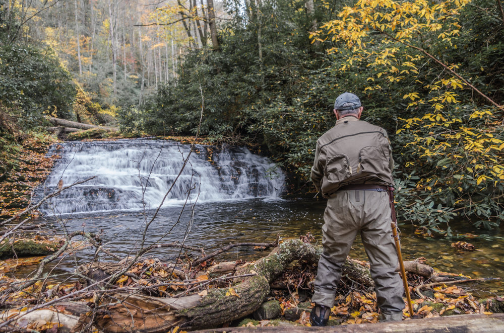 Fly Fishing a Waterfall