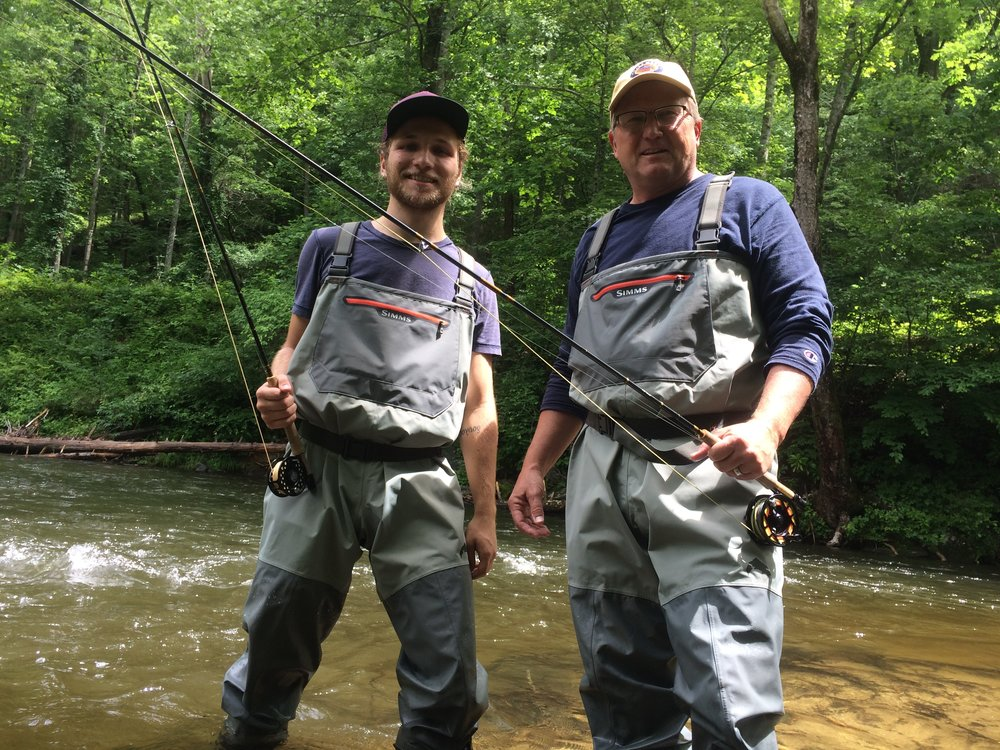 Father and Son Fly Fishing Team