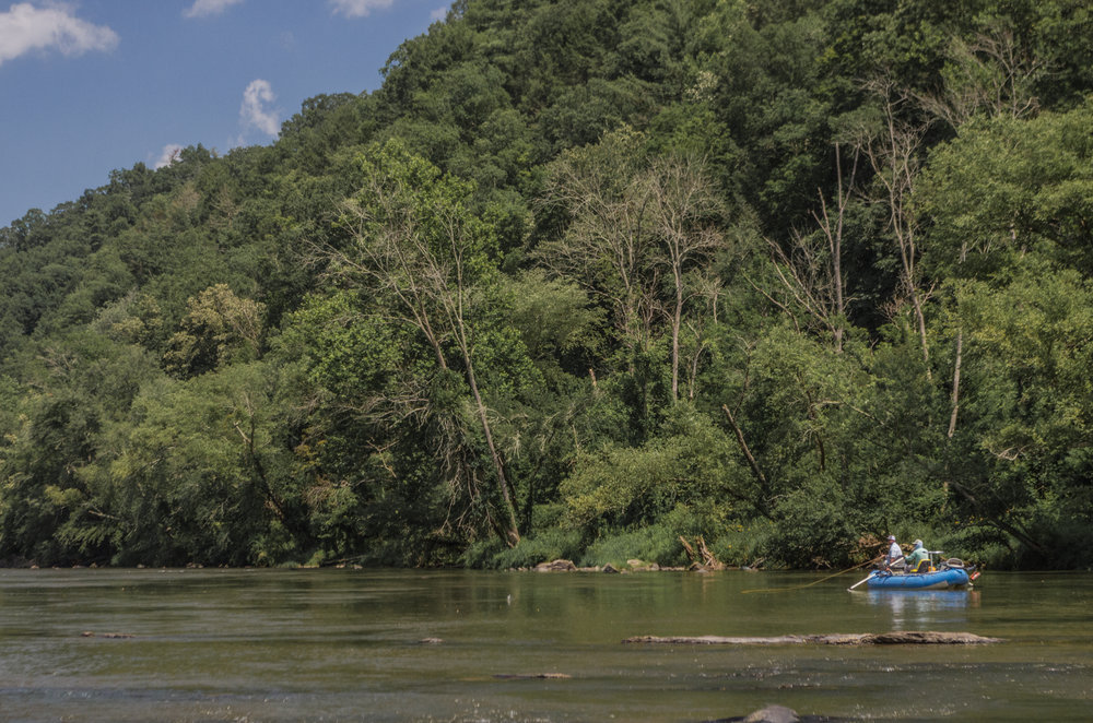 Floating for Smallmouth Bass on the French Broad River