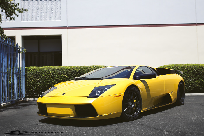 Yellow is a happy color. Therefore, Allan is a happy guy. But, his Murcielago is more of a dull yellow. Dull yellow represents caution, sickness, decay and jealousy. Allan, you need to repaint your car. We're kidding. Allan's Murci shines bright like a diamond in sunny SoCal. As much as he appreciates GT-R's, he just wasn't 100% satisfied and came back to us with a first gen Murcielago to be given full attention to by our techs.