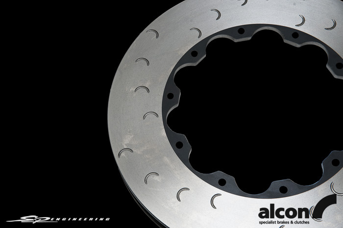 The rotor you see here before you is Alcon's OE 390mm front replacement rotor for your 2012+ GT-R.  Hardware included!