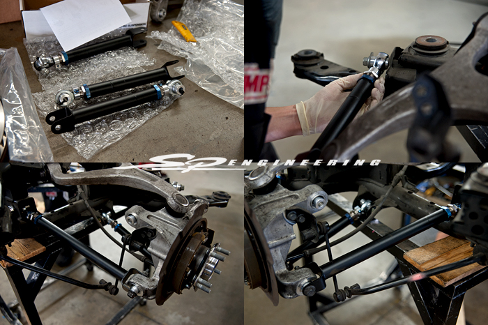 While the transmission was being upgraded, SPL Parts suspension arms were installed with a breeze since the subframe was down:  Click Me