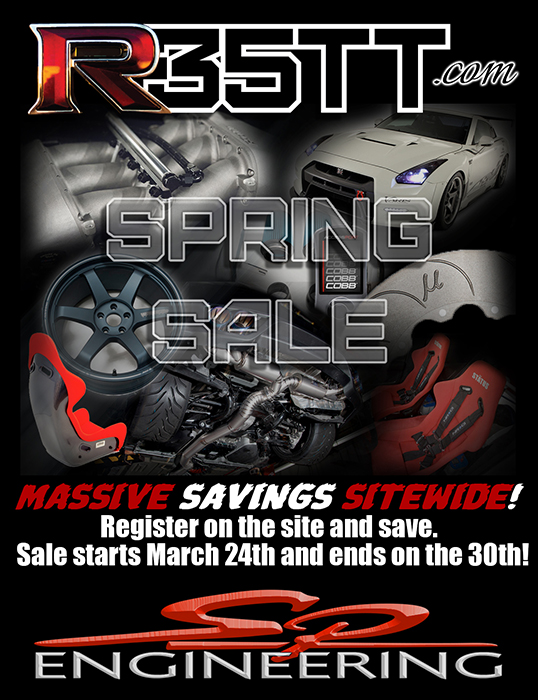 Hey peeps! Have you received your tax return and not know what to do with it? Well we have just what you need! We'll be having a 2014 Spring sale on our  R35TT  website! Our entire site will be discounted. This will be great if you've missed our Christmas sale. Spring sale starts  March 24th  and ends on  March 30th ! So mark those calenders!  – SP