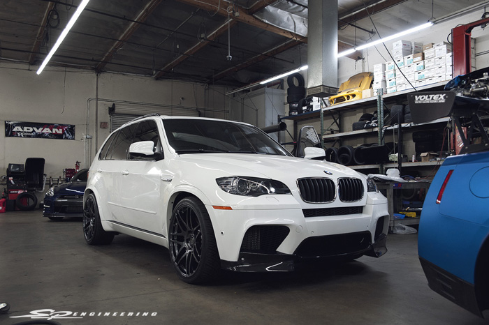 It's not everyday you see a simply modified X5 M. You'll see the occasional ones with 22's or terribly murdered out and overall just bad from time to time. But we're hoping this one will attract some attention for our customer.