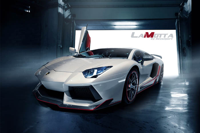"What a great name RevoZport has chosen for their newly released Lamborghini Aventador kit, LaMotta. LaMotta was a great American boxer in the 40's and 50's. Due to his aggressive and unrelenting style in boxing, he adopted the ""bullying"" style and was known as ""The Bronx Bull"". After LaMotta's retirement, he was approached by Hollywood to have a film made based on his life. The film released in 1980 and was called ""The Raging Bull"". For us, LaMotta surpasses all expectations and is fitting to RevoZport's LP700 Aventador aerokit."
