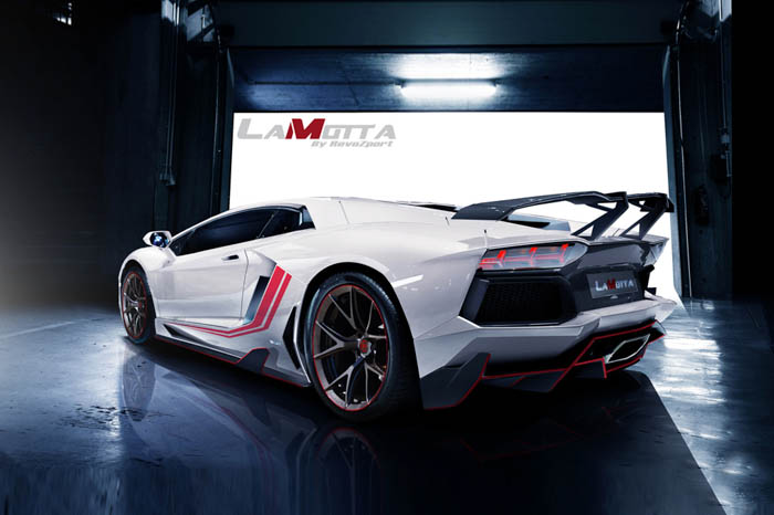 """""""This Raging Bull is engineered to be agile, powerful and stylish in all aspects of the LP700. This project is not just about styling, it has to be a meaningful upgrade, we go with weight savings, extra down force and linear power upgrade."""" – RevoZport"""