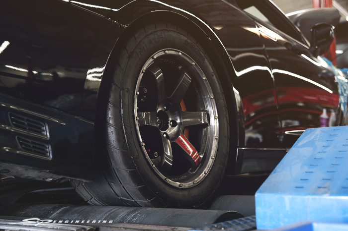 With all the power that Godzilla puts down through MoTeC, stickier tires were needed to help keep the rear from spinning tires.