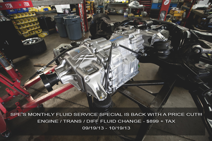 Fellow R35 GT-R owners:  I'd like to apologize in advance for forgetting to post this up last week.  Our one month SPE fluid service special is back and it's back with a lower price!  Email or call in to schedule an appointment!  david@sp-power.com / 626-333-5398