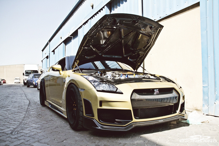 Nissan GT-R (Top Secret Gold)  read more  SPE1000R Package – SPE 4.3L Race Engine – SPE Spec Greddy Turbo Kit – SPE Stage 3 Transmission + PPG Gear Set – Advan RS-D – Toyo R888