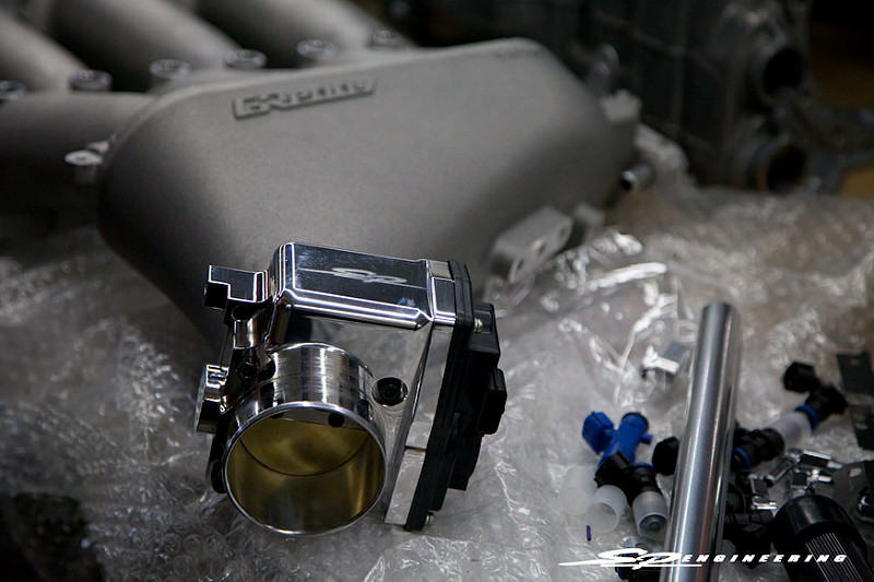 Such as our SPE Spec Throttle Body combined with the SPE Spec Greddy Intake Manifold.