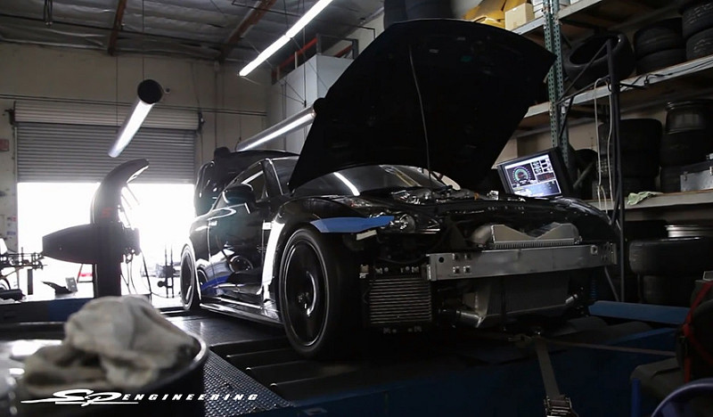 After everything is installed and the cooling is taken care of, the vehicle is brought around to the dyno and the most vital part of any build begins.  Our SPE engine calibration is achieved with Syvec's S8 (SGTR) which allows for absolute engine management control.
